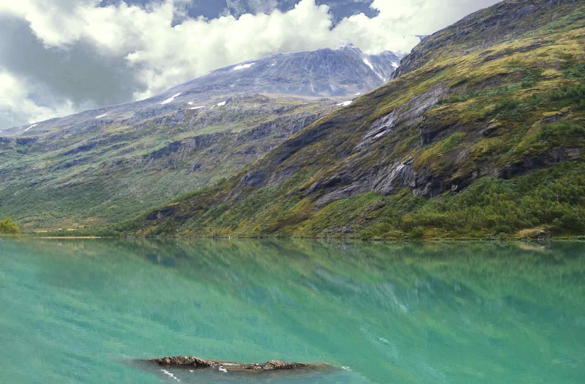 Fotografía de un fiordo en Noruega